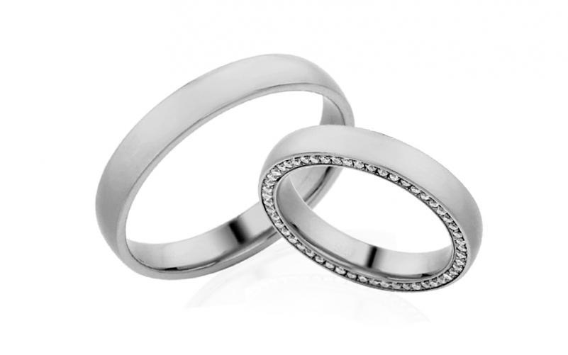 Diamantové snubní prstýnky 0,260 ct Yasmine diamonds 3,5 mm IZOBBR026A