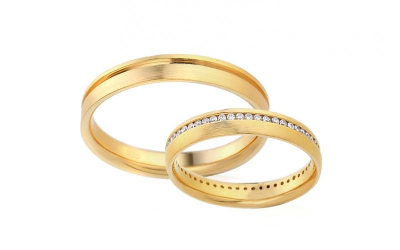 Diamantové snubní prstýnky 0,270 ct Yasmine diamonds 3,5 mm IZOBBR024