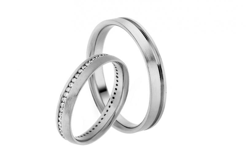 Diamantové snubní prstýnky 0,270 ct Yasmine diamonds 3,5 mm IZOBBR024A