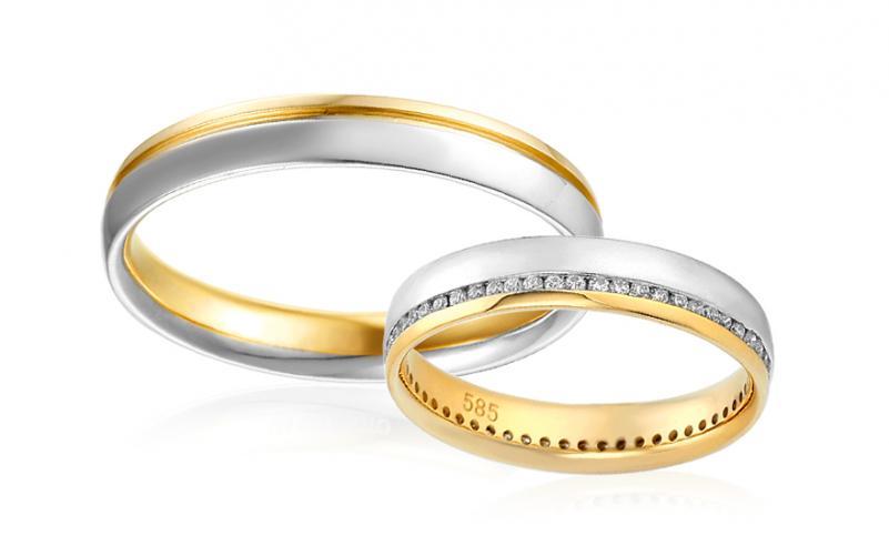 Diamantové snubní prstýnky 0,270 ct Yasmine diamonds 3,5 mm IZOBBR024AY