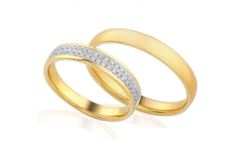 Diamantové snubní prstýnky 0,280 ct Yasmine diamonds 4 mm IZOBBR013