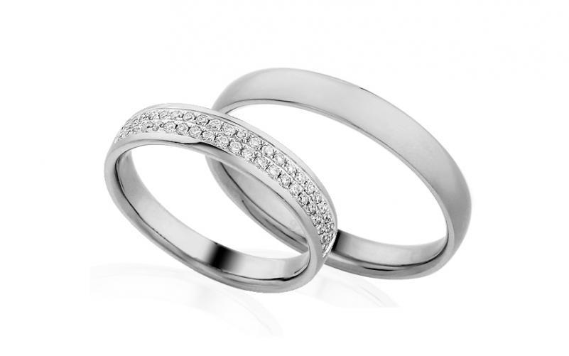 Diamantové snubní prstýnky 0,280 ct Yasmine diamonds 4 mm IZOBBR013A