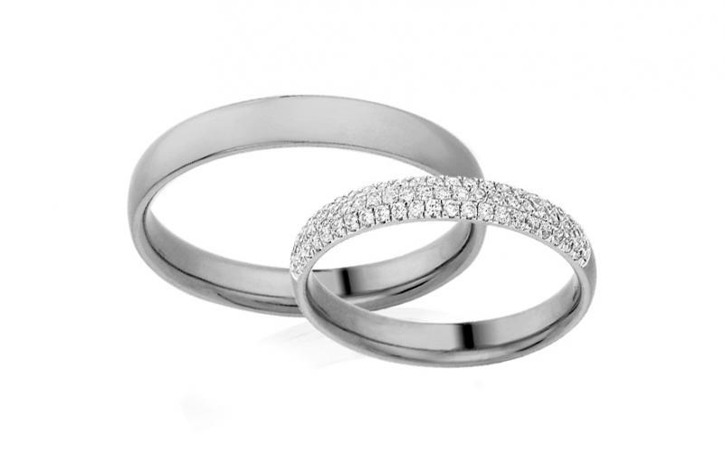 Diamantové snubní prstýnky 0,330 ct Yasmine diamonds 3 mm bílé IZOBBR018A