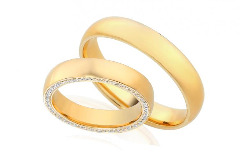 Diamantové snubní prstýnky 0,340 ct Yasmine diamonds 4,5 mm IZOBBR006