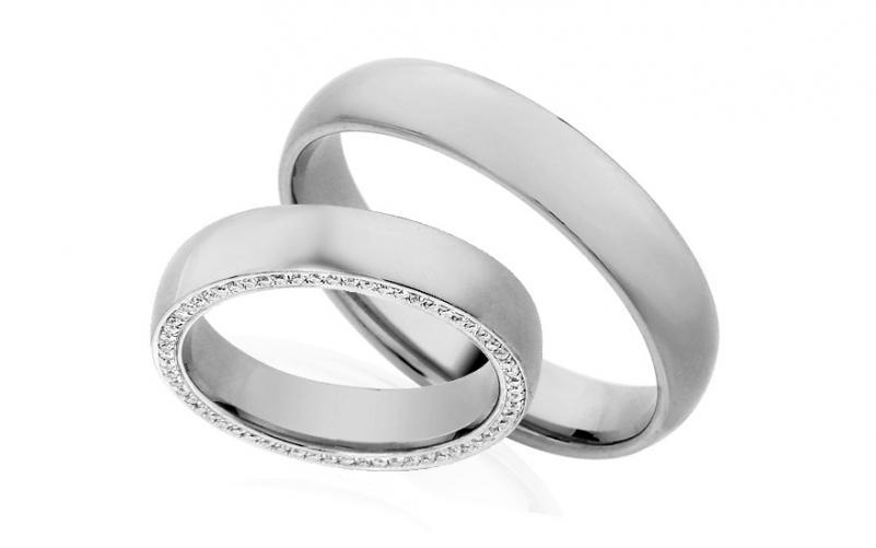 Diamantové snubní prstýnky 0,340 ct Yasmine diamonds 4,5 mm IZOBBR006A