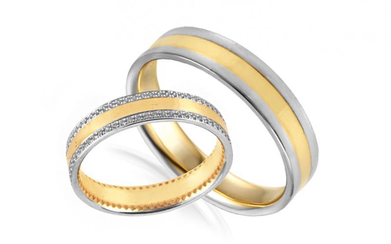 Diamantové snubní prstýnky 0,350 ct Yasmine diamonds 4 mm IZOBBR032