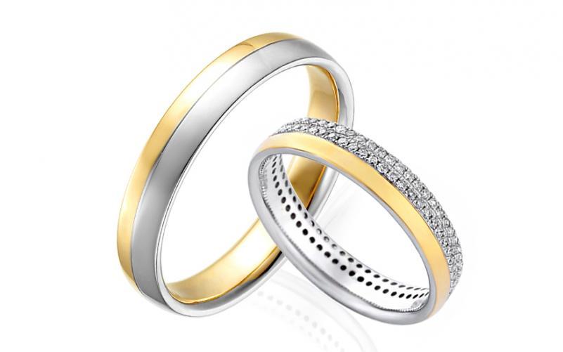 Diamantové snubní prstýnky 0,420 ct Yasmine diamonds 4 mm IZOBBR004AY