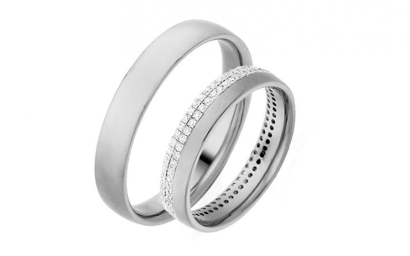 Diamantové snubní prstýnky 0,480 ct Yasmine diamonds 4 mm bílé IZOBBR004A