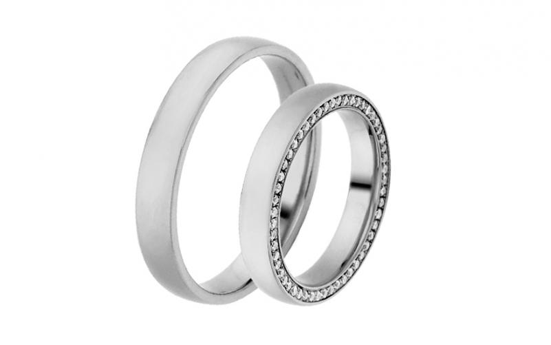 Diamantové snubní prstýnky 0,530 ct Yasmine diamonds 3,5 mm IZOBBR007A