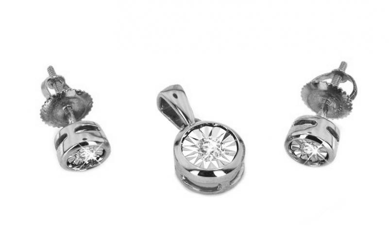 Diamantová souprava 0,110 ct Mariya 6 white KU0080