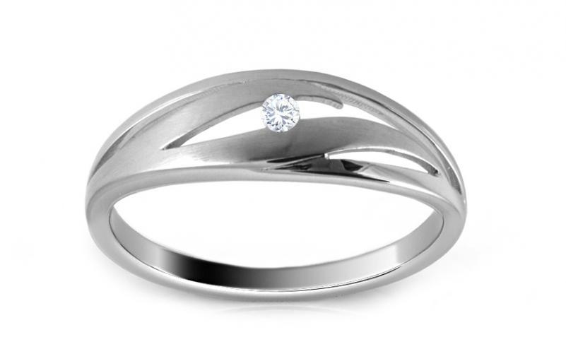 Diamantový prsten 0,030 ct Delux Dot DB0026
