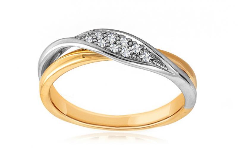 Diamantový prsten 0,050 ct Deluxe Row DB0015