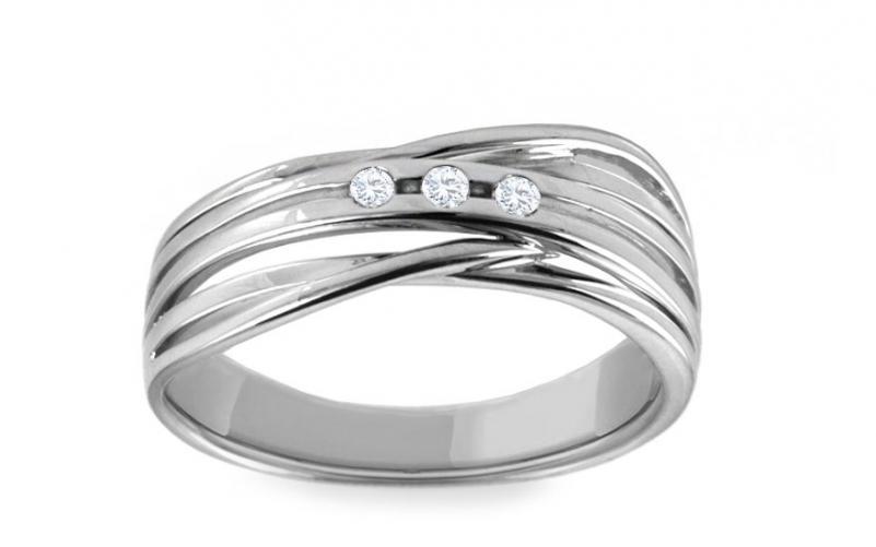 Diamantový prsten 0,060 ct Deluxe Joy DB0025