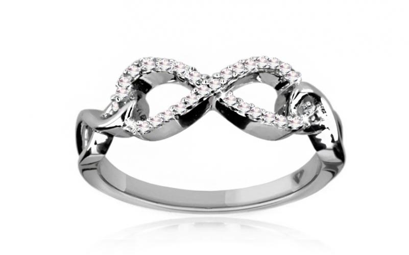Diamantový prsten 0,130 ct Infinity KU163