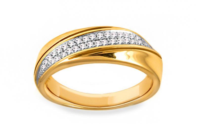 Diamantový prsten 0,150 ct Delux Vision DB0012