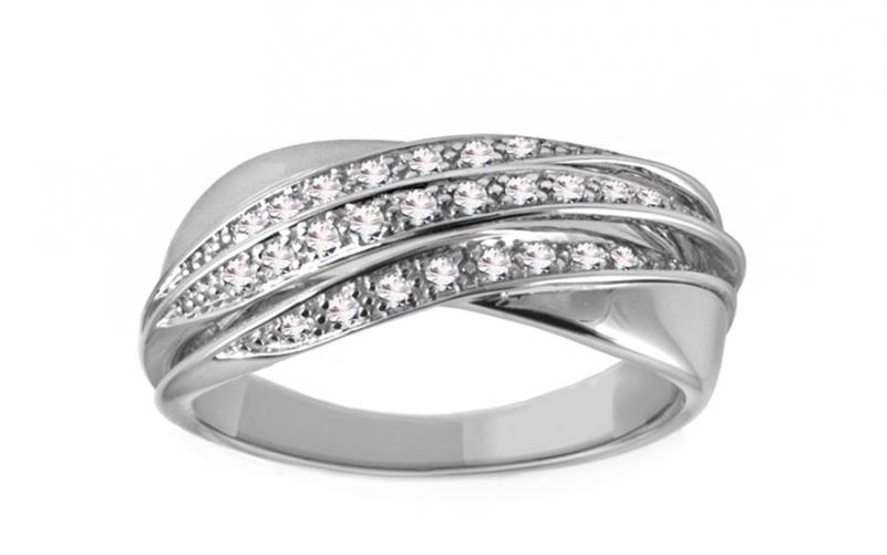 Diamantový prsten 0,170 ct Delux Voice DB0013A