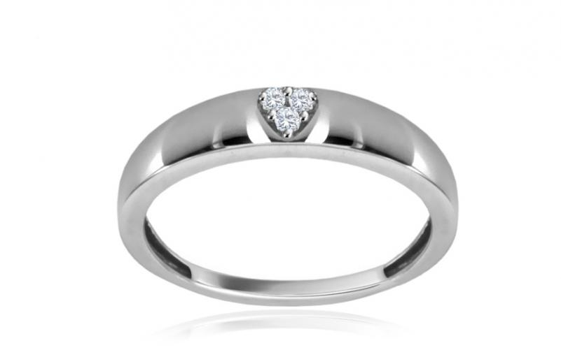 Diamantový prsten Heart 0,025 ct CSBR58A