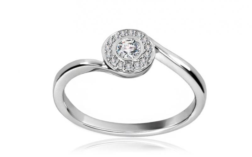 Diamantový prsten 0,229 ct Midnight dot DM046A