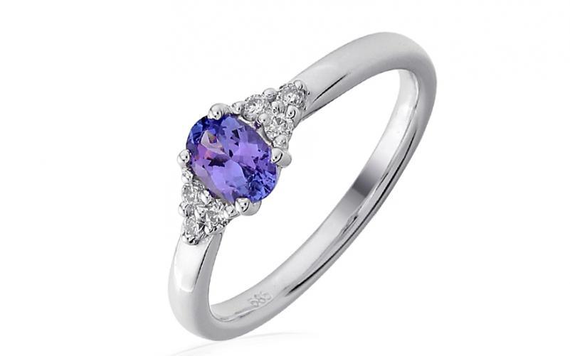 Diamantový prsten s tanzanitem Genna IZBR186