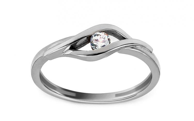 Diamantový prsten 0,080 ct Suzzy white CSBR60A