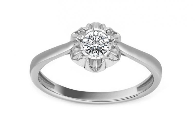 Diamantový prsten z bílého zlata Ardiente KU212APR