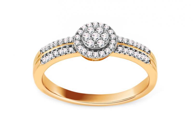 Diamantový zásnubní prsten 0,120 ct Desirea KU734
