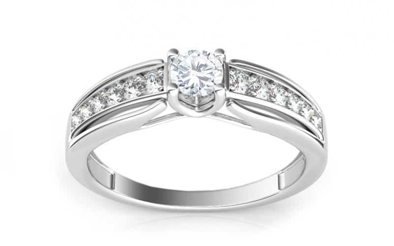 Luxusní prsten s 0,450 ct diamanty ardiente KU0050A