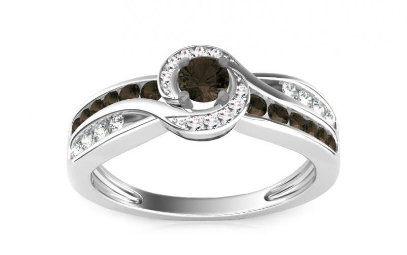 Luxusní prsten s 0,630 ct černými diamanty Black Lagoon KU109B