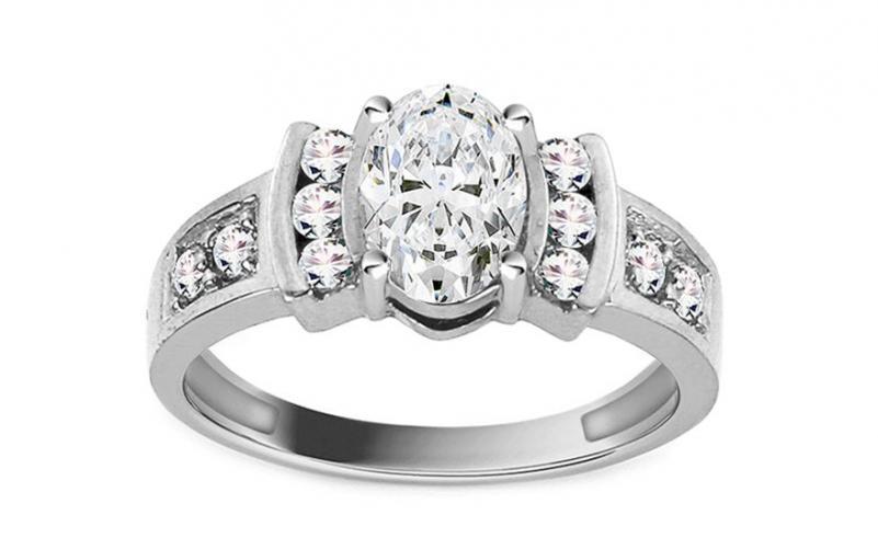 Luxusní zásnubní prsten Isarel 21 white CSRI734A