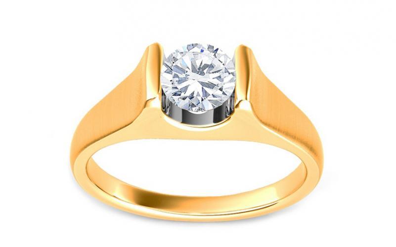 Luxusní zásnubní prsten s 0,500 ct diamantem Amore KU0087