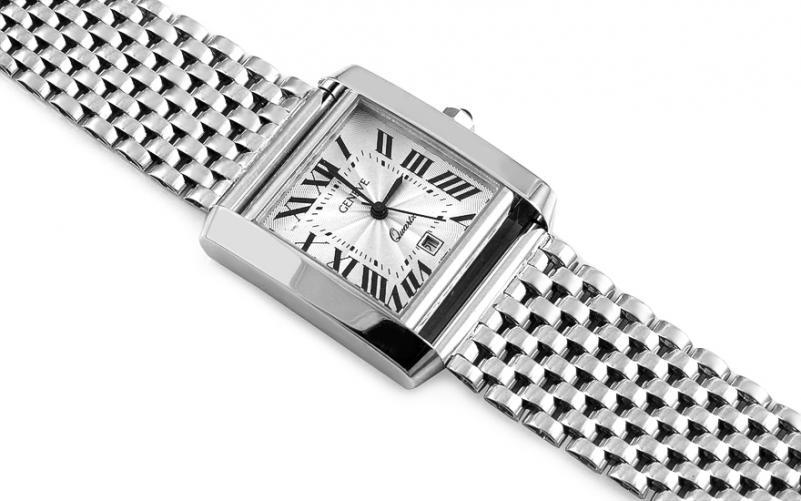 Pánské hodinky z bílého zlata Geneve IZ14442A