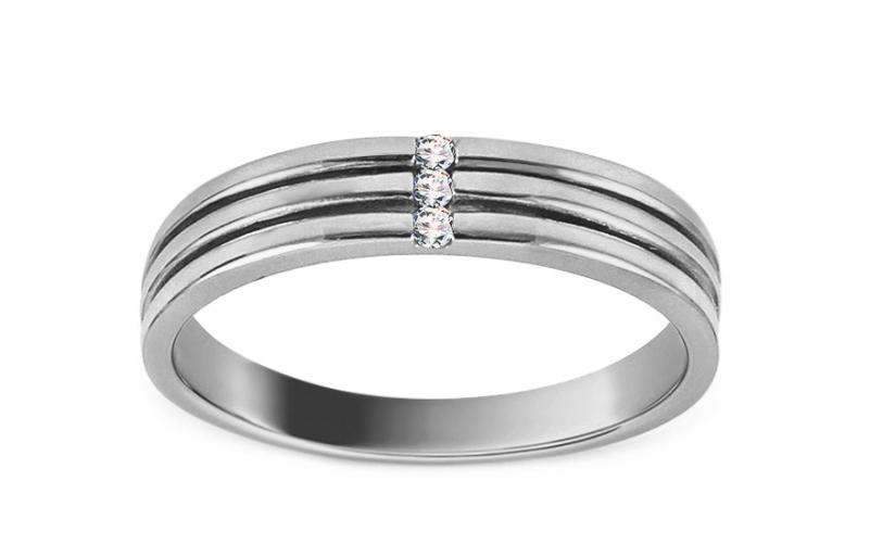 1b15db573 Prsten z bílého zlata se zirkony Earline IZ13038A