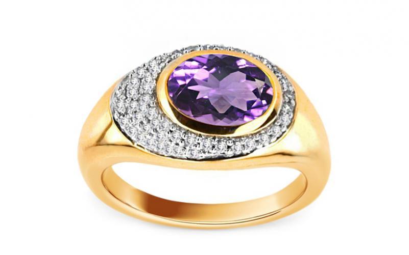 Ametystový prsten Amerei 0,150 ct KU0006