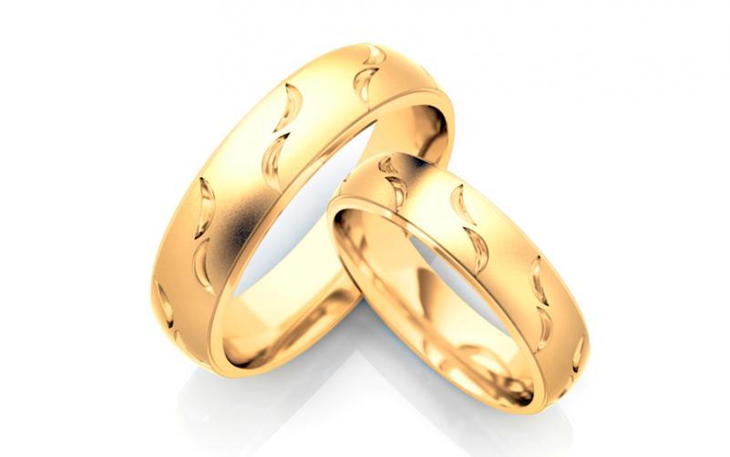Snubní prsteny matované šířka 5 mm STOB130