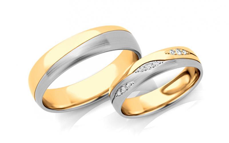 Snubní prstýnky s diamanty 0,105 ct šířka 5 mm STOBR287AY