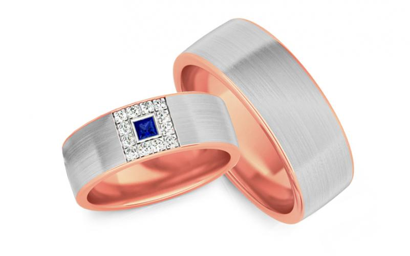 Snubní prstýnky s diamanty 0,160 ct šířka 6,6 mm STOBR242R