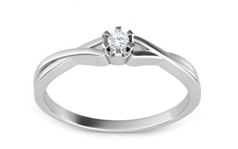 Zásnubní prsten 0,060 ct Amazing love white CSBR11A