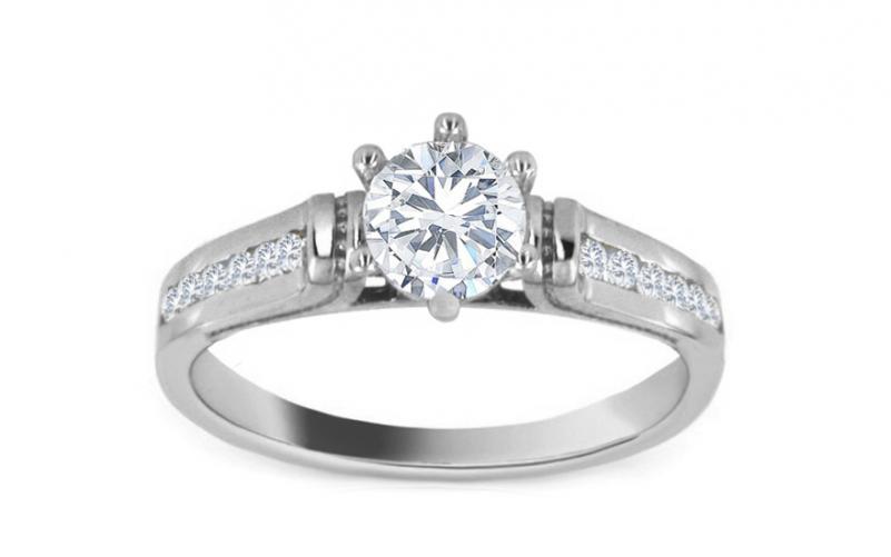 Krásny zásnubný prsteň Queen white CSRI818A