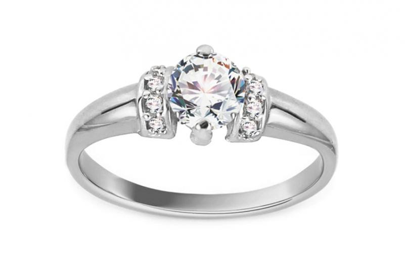Krásný zásnubní prsten Isar 10 CSRI1280A