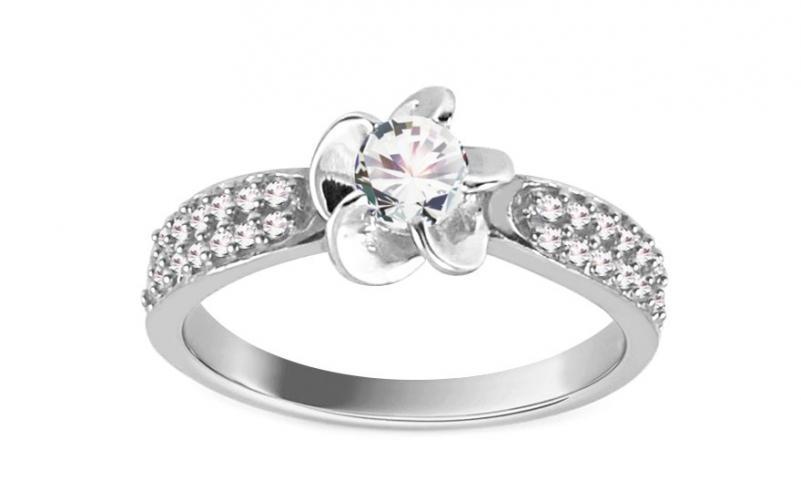 Krásný zásnubní prsten Isar 15 white CSRI961A