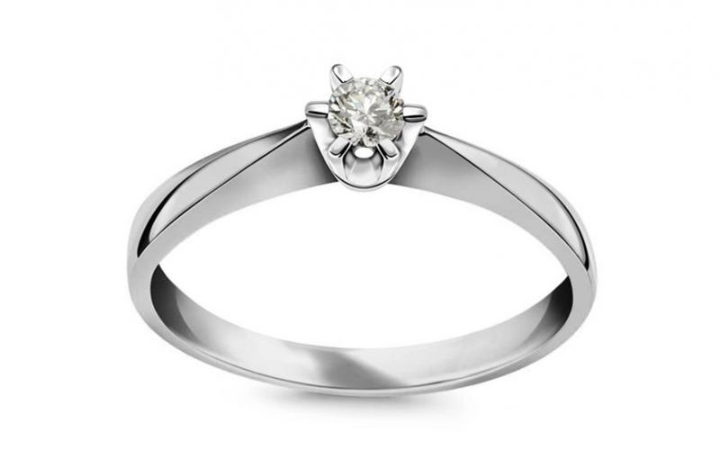 949904880 Zásnubní prsten s 0.110 ct Si1 / G diamantem Nela young white CSBR41A