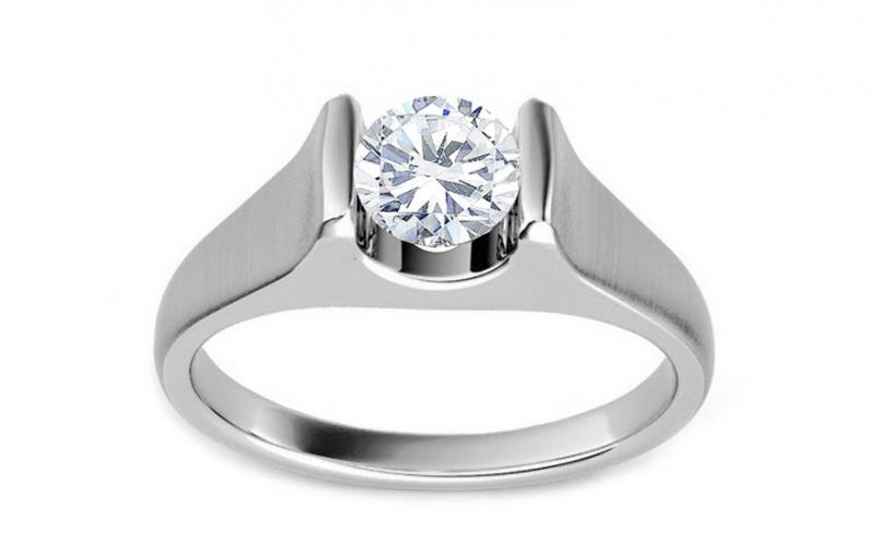 Luxusní zásnubní prsten s 0,500 ct diamantem Amore KU0056