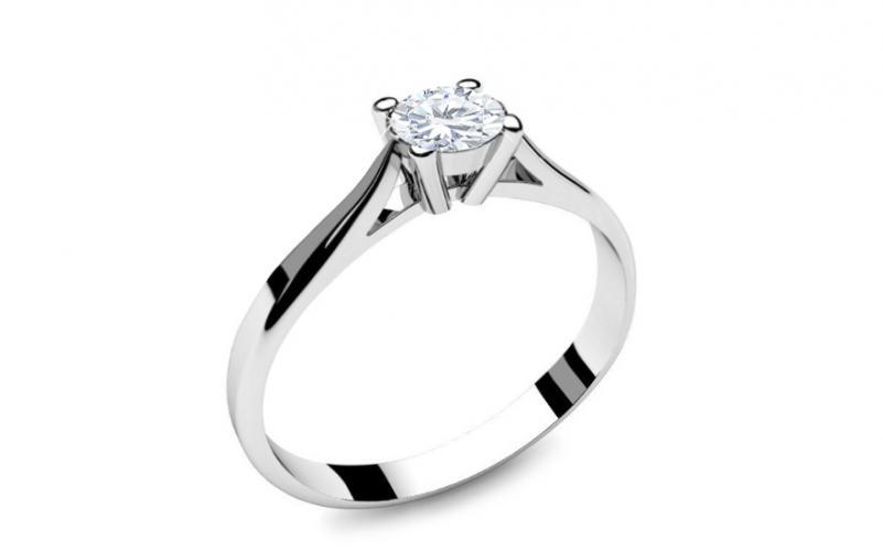 dc345ab5f Zásnubní prsten s 0,150 ct diamantem Power of love 2 LRBR018