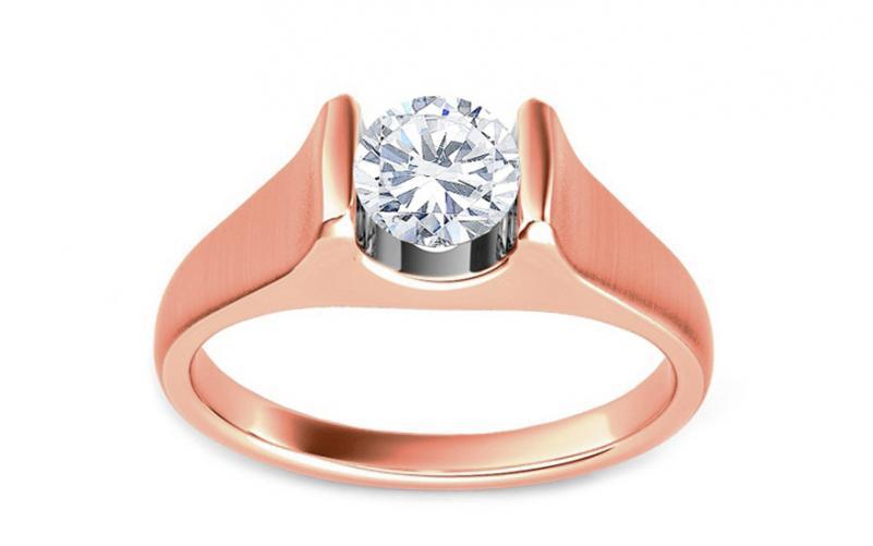 516275287 Zásnubní prsten s 0,500 ct GH / Si diamantem AMORE pink KU0094