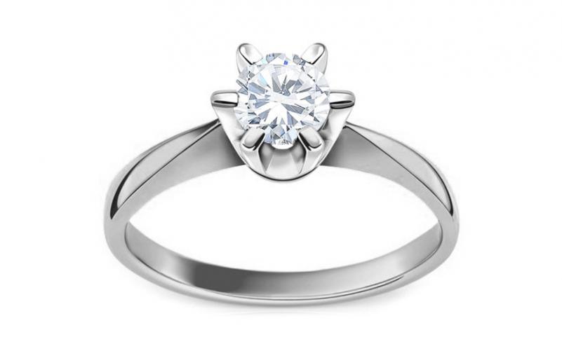 Diamantový zásnubní prsten 0,500 ct I / Si1 Nela white EGL CSBR51A