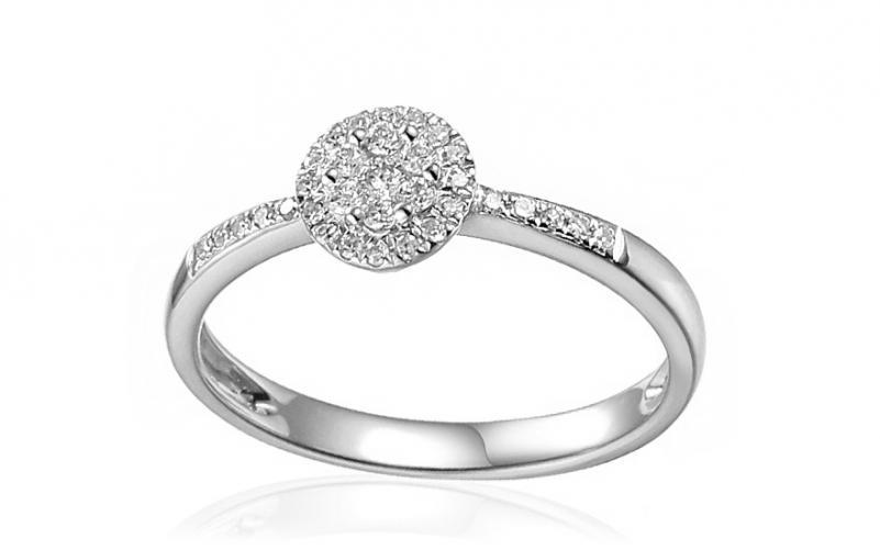 653f53c1c Zásnubní prsten z bílého zlata s diamanty 0,150 ct Samella IZBR486A