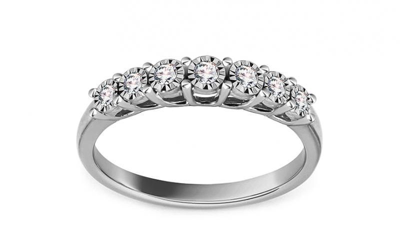 550b3799c Zásnubní prsten z bílého zlata s diamanty 0,200 ct Adelice KU979A