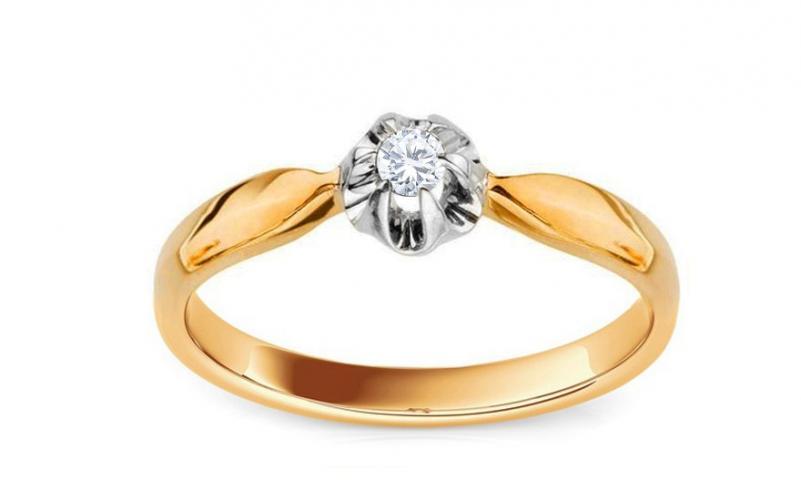 Zásnubní prsten MARIYA 7 s diamantem 0,15 ct KU0011