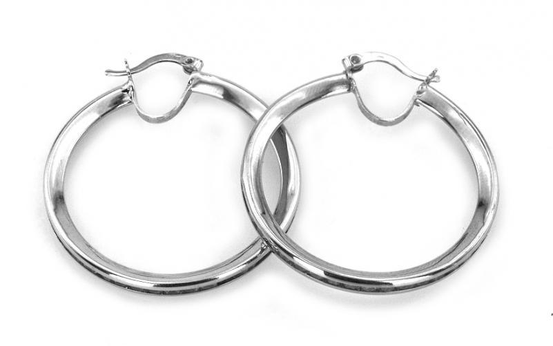 Zlaté dámské náušnice kruhy 3,5 cm IZ2952