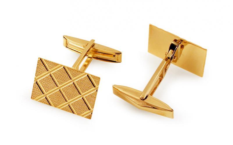 Zlaté manžetové knoflíčky IZ11211